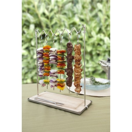 Pincho con base de madera para BBQ The Companion Group