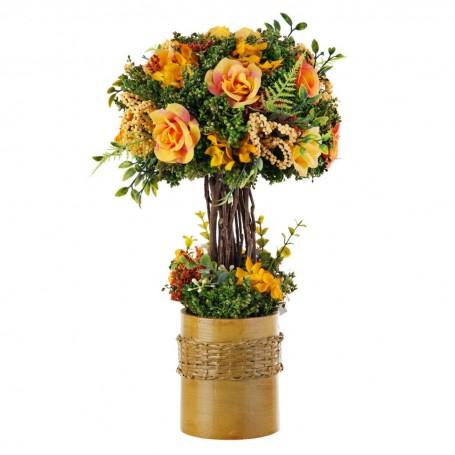 Arreglo floral Amarillo con base de resina