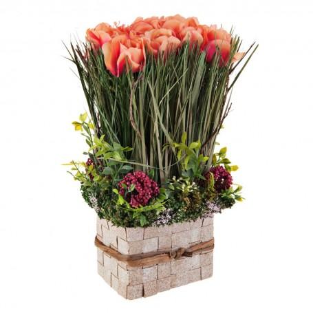 Arreglo floral Rosas / Espigas con base