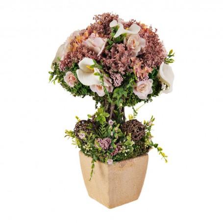 Arreglo floral Rosa / Cala con base