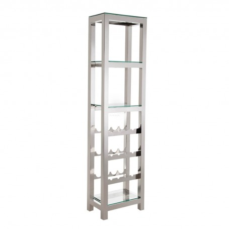 Mueble vinera Clear / Silver Haus