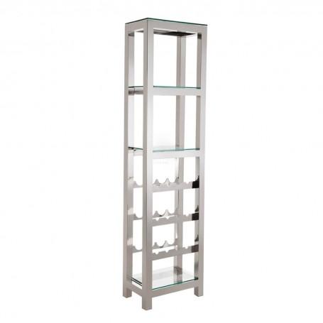 Mueble vinera Clear / Silver Haus