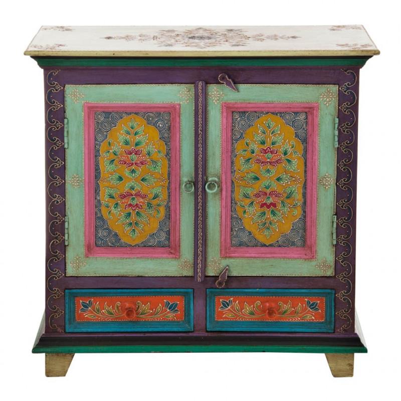 Mueble con cajones y puertas Turquesa / Multicolor Haus
