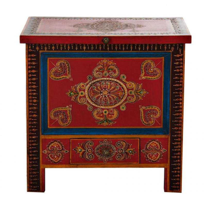 Mueble Baúl con cajón Rojo / Multicolor Haus