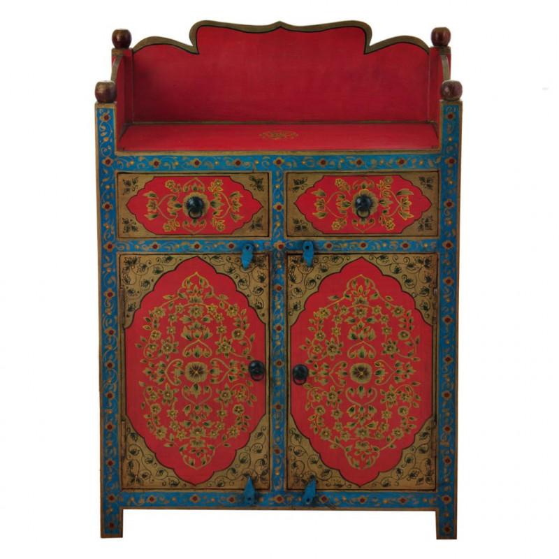 Mueble Bufetero con cajones y puertas Rojo / Turquesa Haus