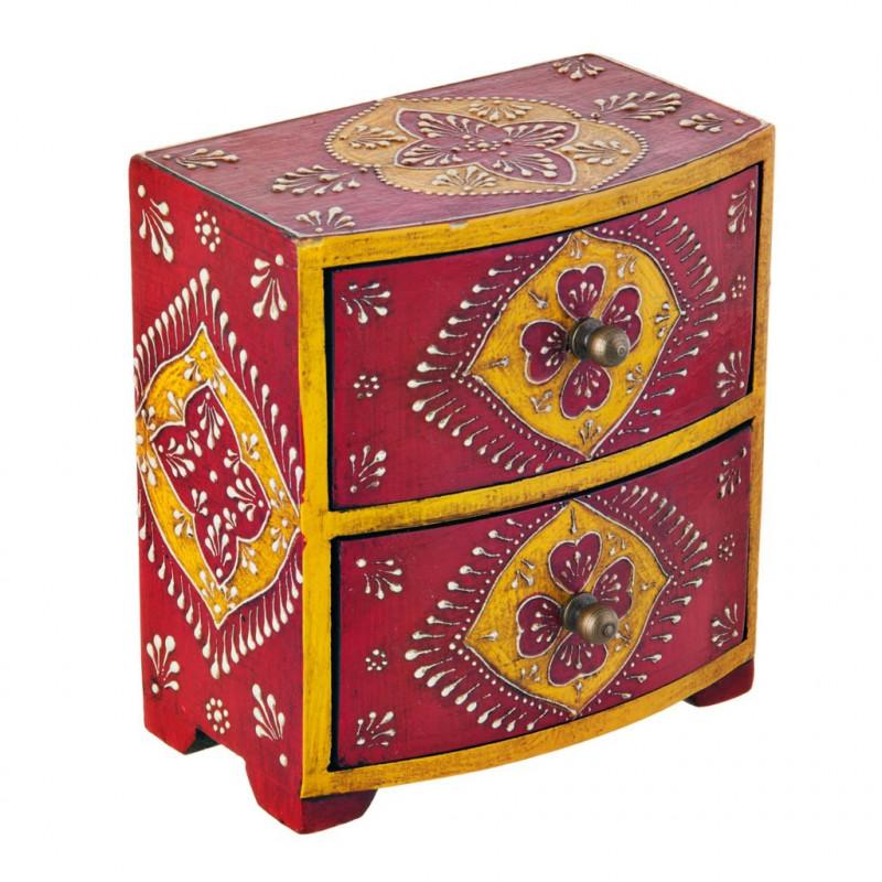 Mini gavetero con cajones Rojo / Multicolor Haus
