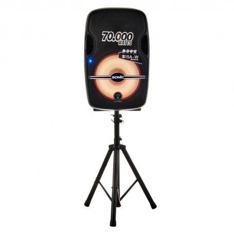 "Parlante para fiesta Bluetooth / USB / SD / Pedestal / Micrófono 70000W 15"" Sonic"