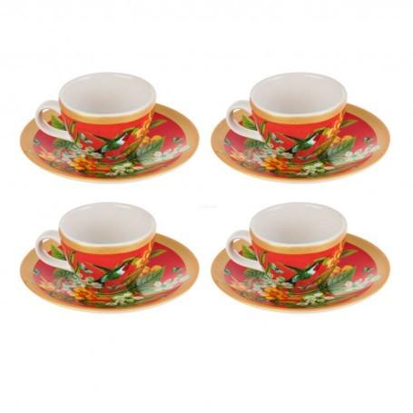 Juego de tazas y platos para tinto Tala Corona