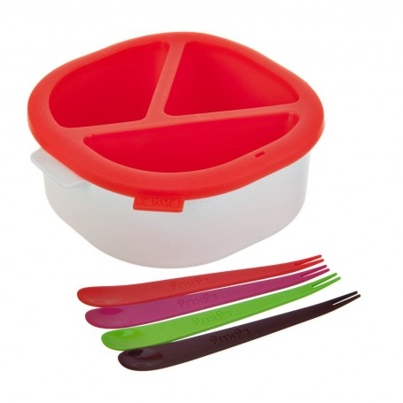 Tazón con molde Fondue / Pinchos para microondas Lékué
