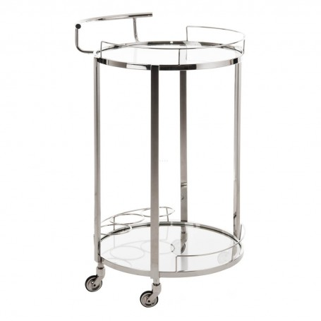 Mesa bar con ruedas 2 niveles