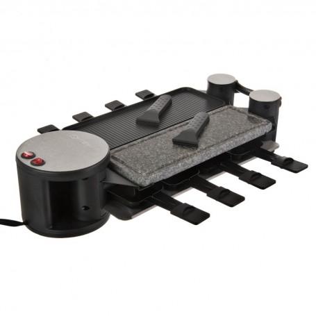 Raclette 8 servicios aluminio antiadherente / piedra 1200W Apertura Swissmar