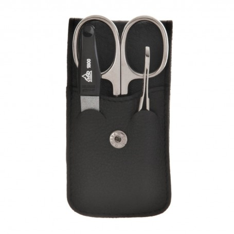 Estuche para manicure 3 piezas Negro / Silver Becker Solingen