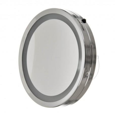 Espejo con luz LED, ventosas y aumento 8X Becker Solingen
