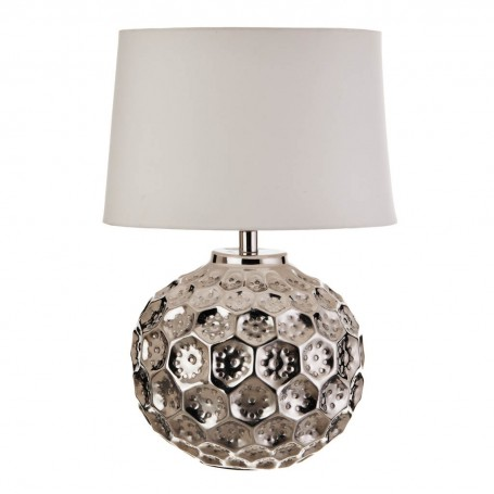 Lámpara de mesa Martillado Silver Haus