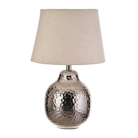 Lámpara de mesa Martillado Silver / Natural Haus