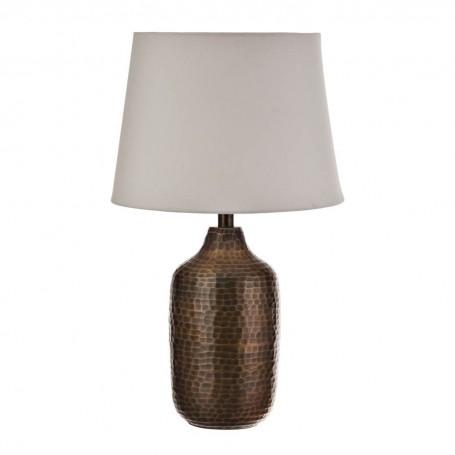 Lámpara de mesa con pantalla redonda Martillado Haus
