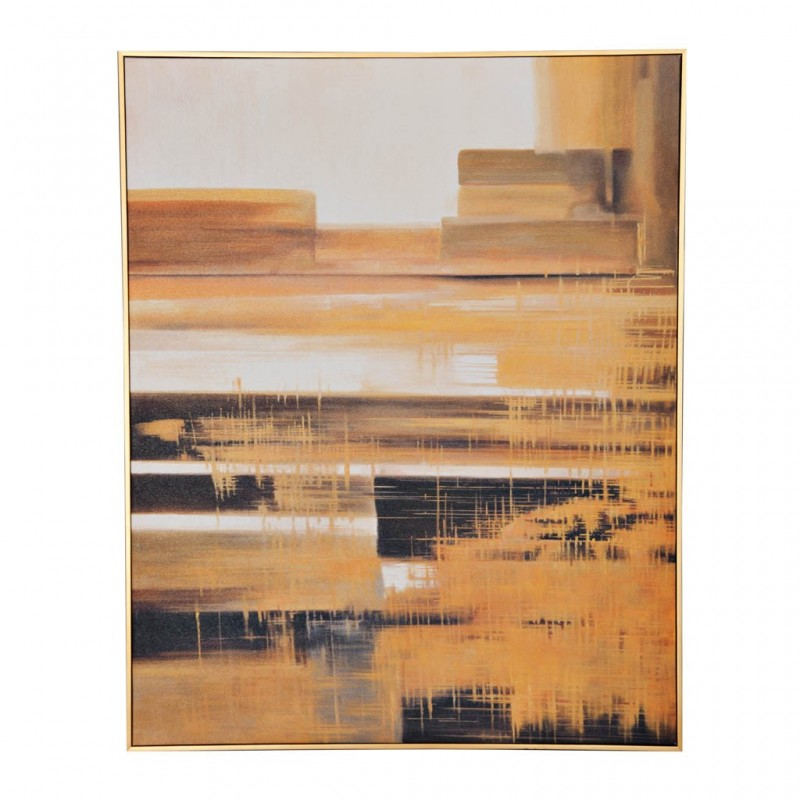 Cuadro con marco Abstracto Amarillo / Blanco / Negro Haus