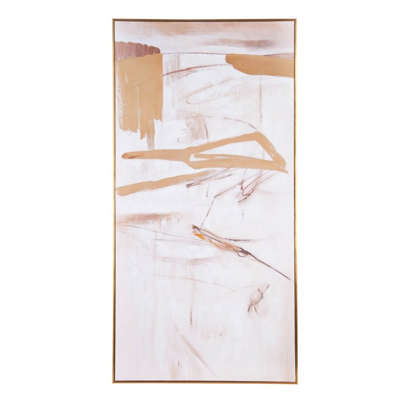 Cuadro con marco Abstracto Blanco / Dorado Haus