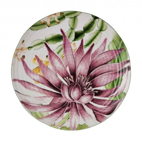 Plato para ensalada Flores Multi Haus