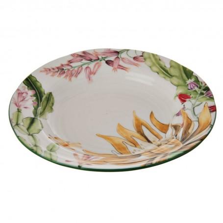 Plato para sopa Flores Multi Haus