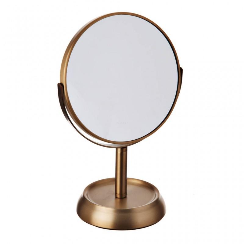Espejo doble con pedestal Gold Square