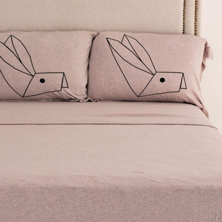 Juego de sábanas Conejo Origami
