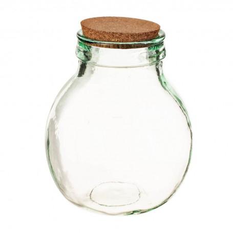 Botella / Repostero inclinado con tapa de corcho Ecoglass