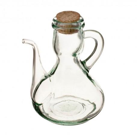 Aceitero con agarradera y tapa de corcho Ecoglass