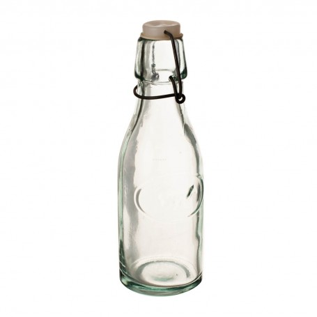 Botella con tapa para leche Vaca Ecoglass