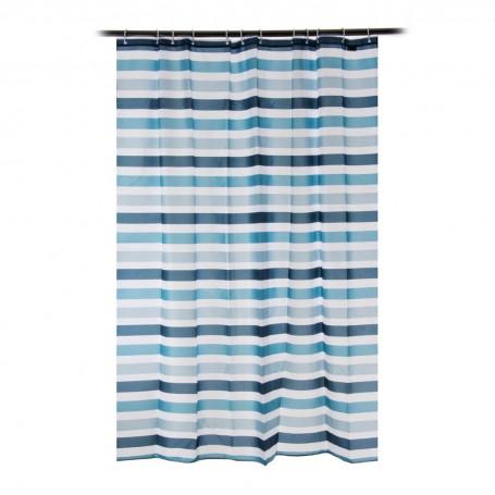 Cortina para baño con 12 ganchos Líneas Noble Stripe Novo