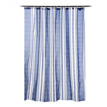 Cortina para baño con 12 ganchos Rayas Marl Strip Novo
