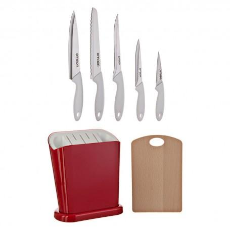 Juego de cuchillos con tabla para picar y bloque Adamo