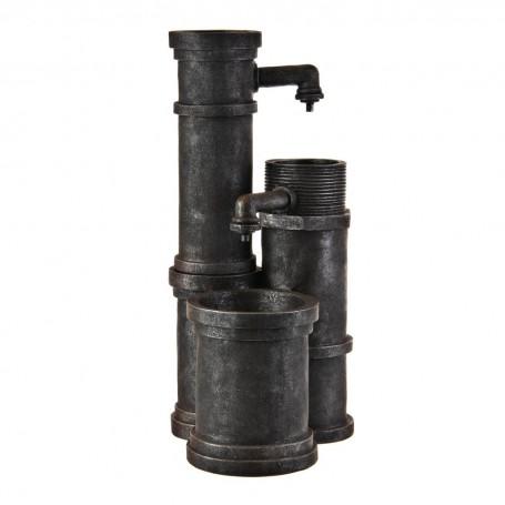 Fuente de agua eléctrica con luz LED Tubería Gris