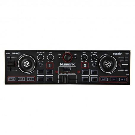Controlador mezclador de música 2 canales / USB / Controles de iluminación DJ2GO2 Audio Tech