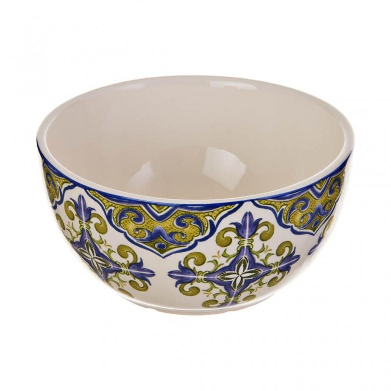 Tazón para sopa / cereal Arabesco Azul / Verde Haus