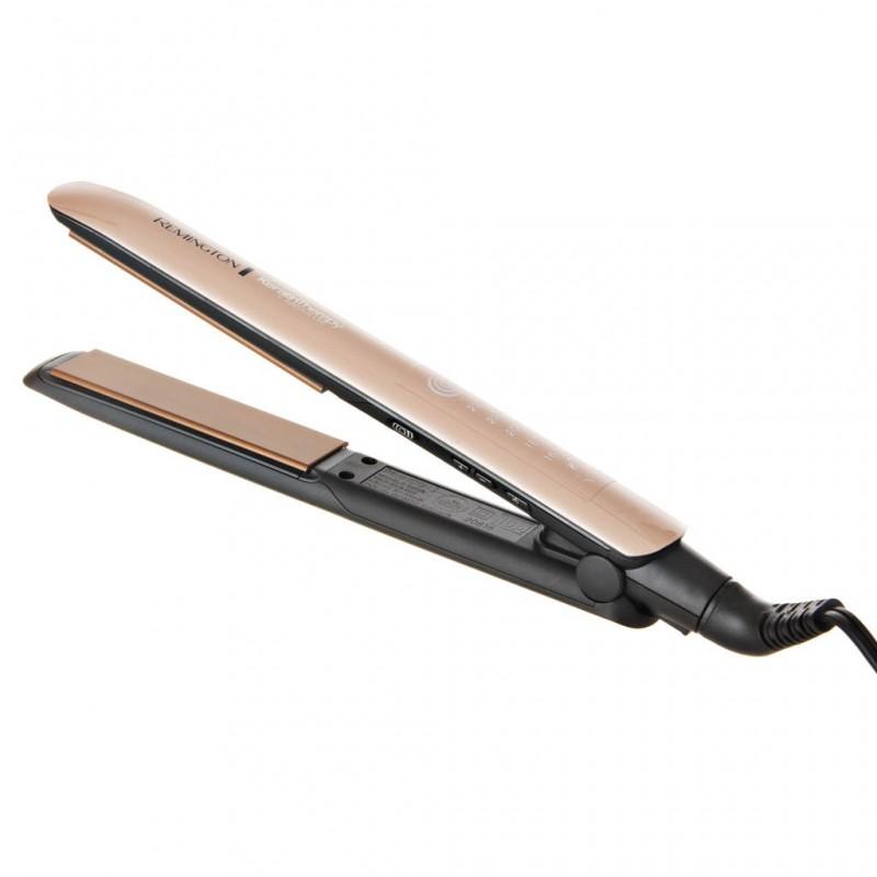 Plancha alisadora Keratin Therapy Pro / Aceite de Argán Cerámica Remington