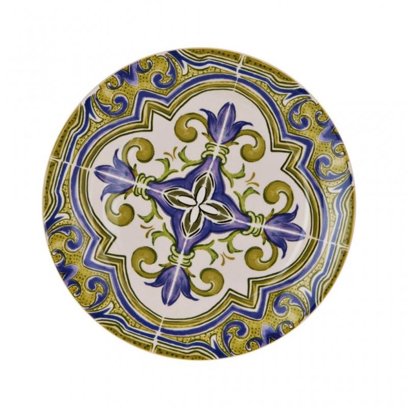 Plato para ensalada Arabesco Azul / Verde Haus