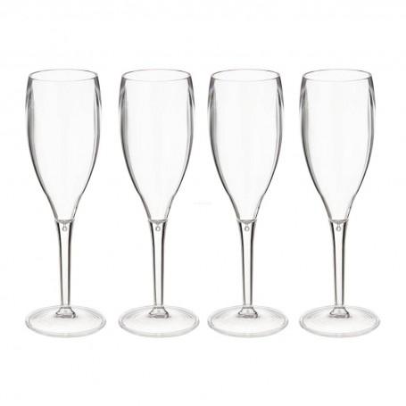 Juego de 4 copas para champagne Clear Koziol