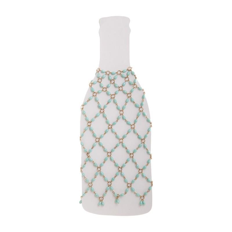 Cubre botella tejido en mullos Haus