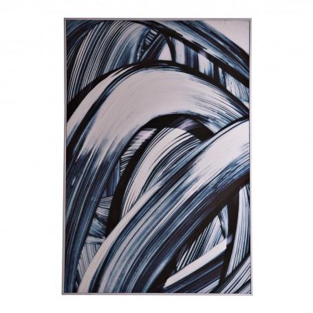 Cuadro con marco blanco Abstracto Blanco / Azul