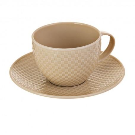 Juego de taza y plato para té Accent