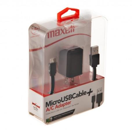 Cable Micro USB con adaptador de pared Maxell