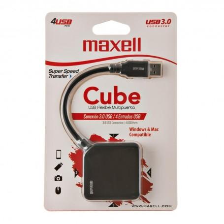 HUB con cable USB / 4 USB 3.0 Cube Maxell