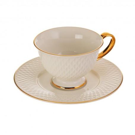 Juego de taza y plato para té Eclat