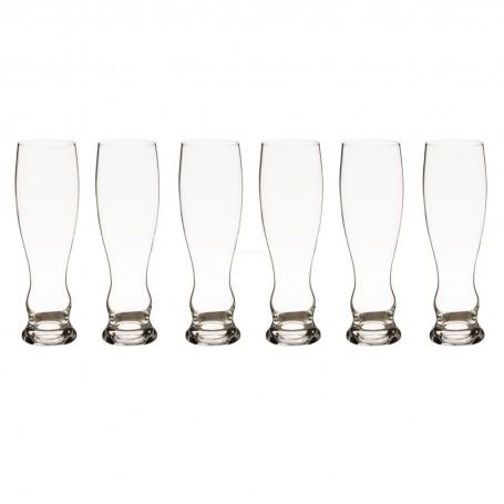 Juego de 6 vasos cerveceros Splendour Krosno Glass
