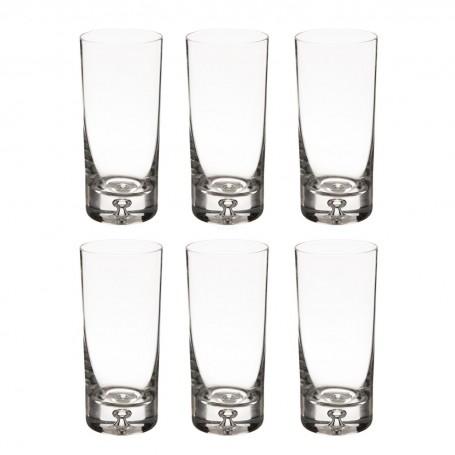 Juego de 6 vasos altos Splendour Krosno Glass