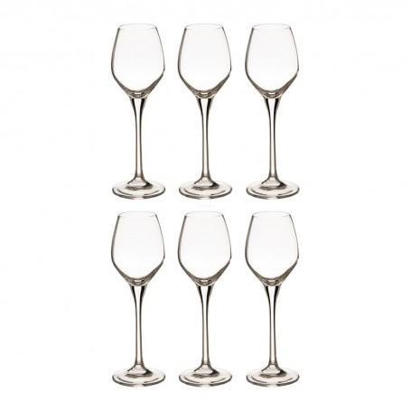 Juego de 6 copas para agua / gin Venezia Krosno Glass