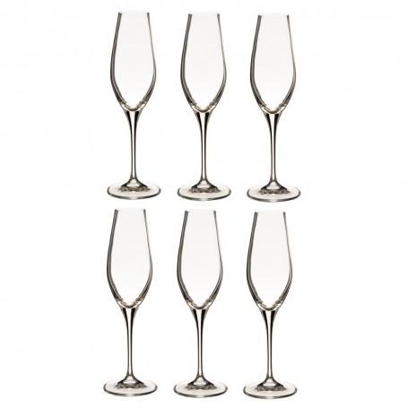 Juego de 6 copas champagne Splendour Krosno Glass