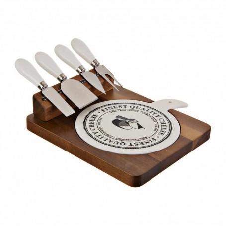 Tabla para queso con 4 cuchillos Haus