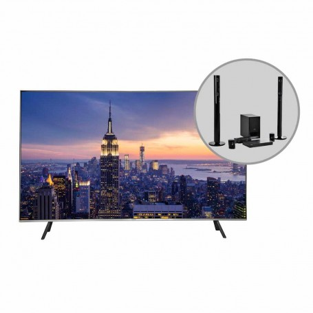 """Samsung TV QLED digital ISDB-T UHD Smart / BT QN65Q6FNAPCZE 65"""" y Teatro en Casa"""